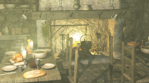 Tavern with volumetric caustics
